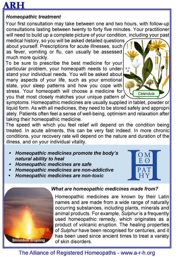 Homeopathy Leaflets